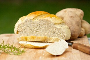 Dutch Oven Herbed Idaho® Potato Bread
