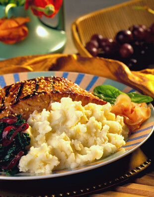 Marinated Salmon with Ginger Mashed Potatoes