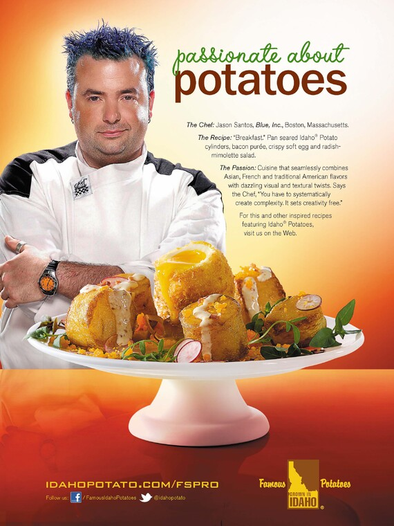 Pan Seared Idaho® Potato Cylinders