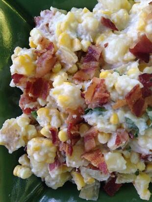 Creamy Corn and Idaho® Potato Salad with Buttermilk Bacon Dressing