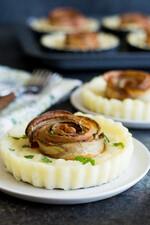 Mashed Potato Pie with Potato Bacon Roses
