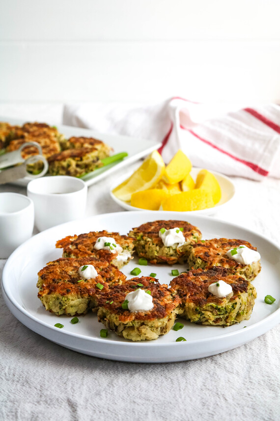 Cheesy Potato Broccoli Cakes