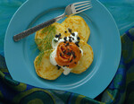Potato Pancakes Vonnas with Smoked Salmon and (Osetra) Caviar