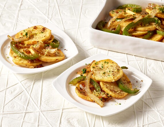 Country Fried Potatoes with Onions and Green Peppers