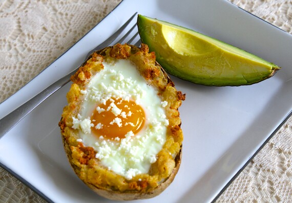 Breakfast Idaho® Potato Skins with Chorizo