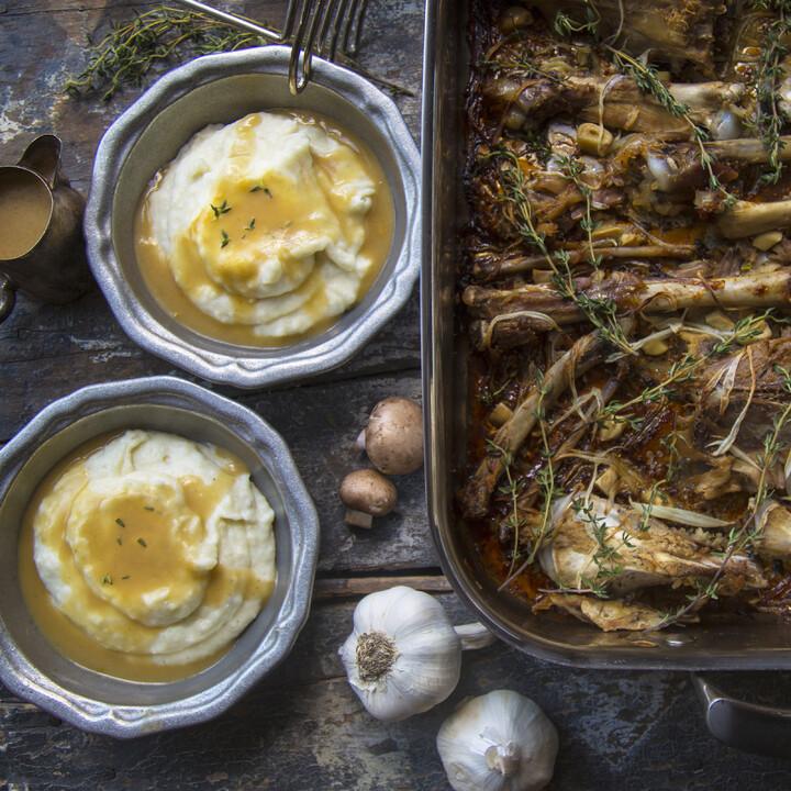Marvelous Idaho® Mashed Potatoes with Liquid Gold Gravy