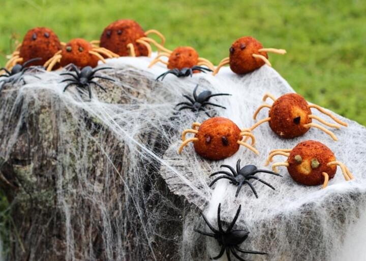 Stuffed Idaho® Potato Spiders