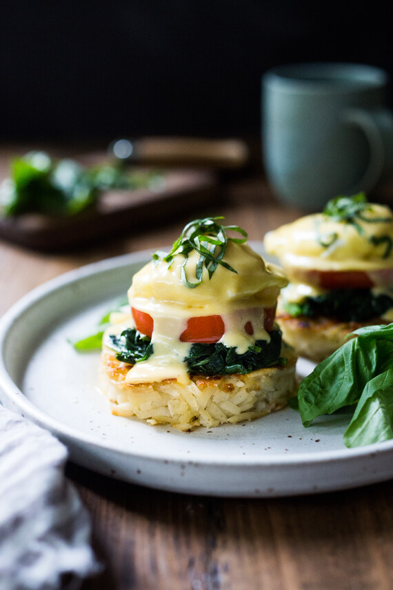 Hash Brown Eggs Benedict