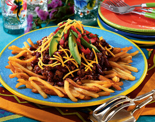 Chili-Topped Fried Idaho® Potatoes