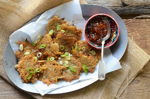 Indian-Spiced Idaho® Potato Latkes