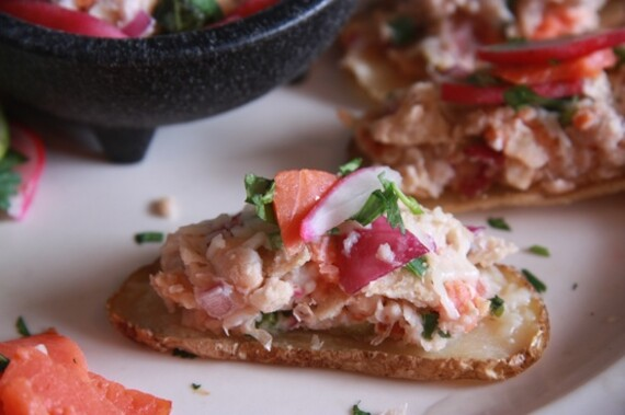 Idaho® Potato Nachos with Smoked Salmon