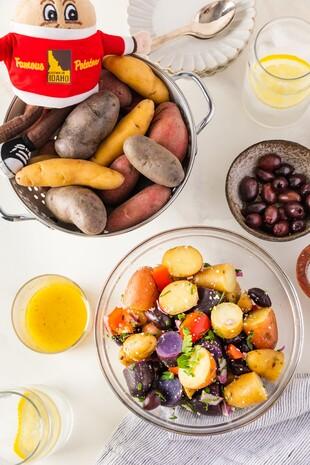 Mediterranean Fingerling Potato Salad