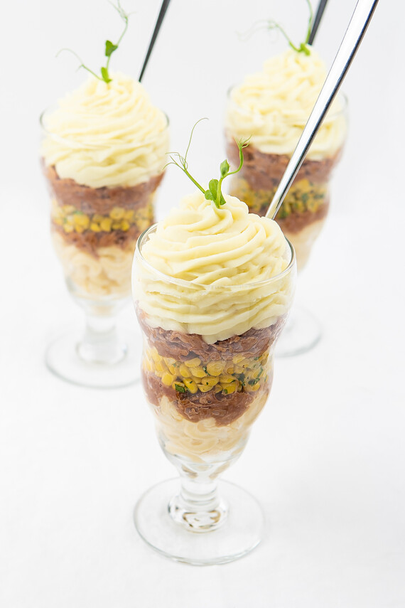 BBQ Pork Parfait with Idaho® Potato and Litehouse® Ranch