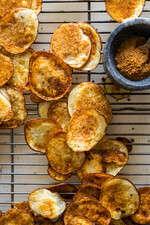 Baked  Potato Chips With Asian BBQ Mix