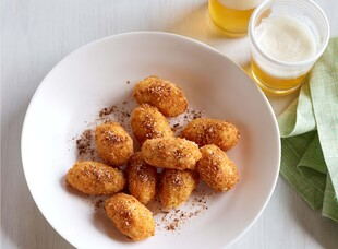 Salt and Pepper Bacon Potato Croquettes