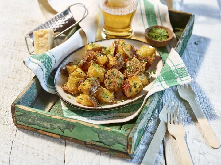 Parmesan-Rosemary Potato Cracklins