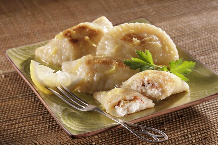 Crab and Idaho® Potato Pierogies