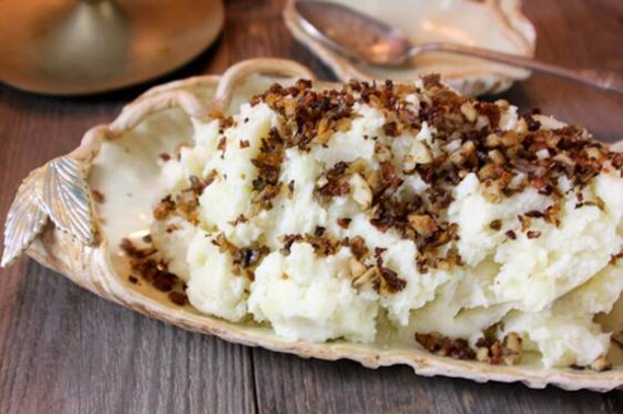 Truffled Mashed Potatoes with Crispy Mushroom Bits