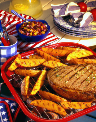 Thyme and Paprika Grilled Idaho® Potatoes