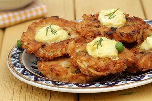Curried Idaho® Potato Latkes