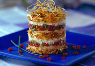 Greek Idaho® Potato Stack with Salmon
