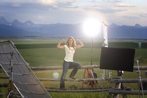 "Denise Austin Films New TV Spot for Idaho Potatoes on Location From ""The Best Earth on Earth"""