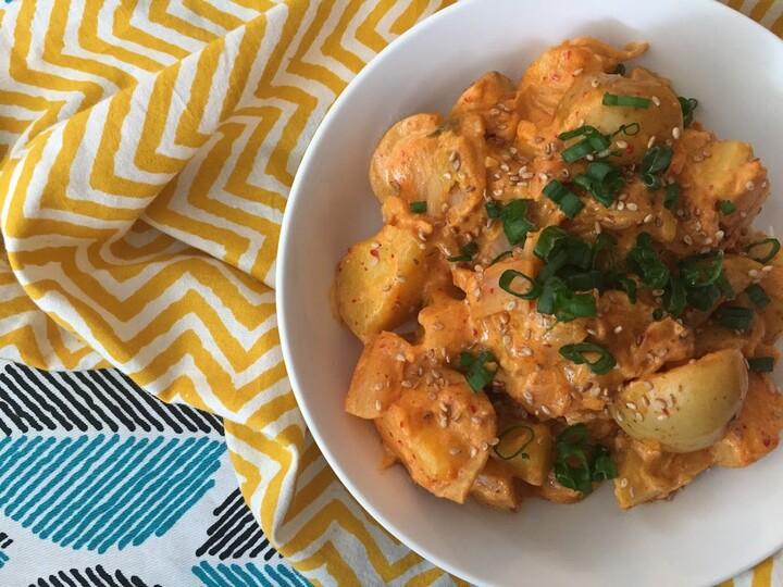 Creamy Idaho® Potato Salad with Kimchi