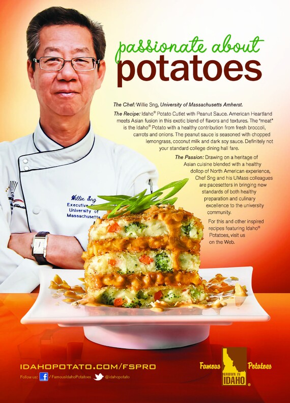 Idaho® Potato Cutlet with Peanut Sauce