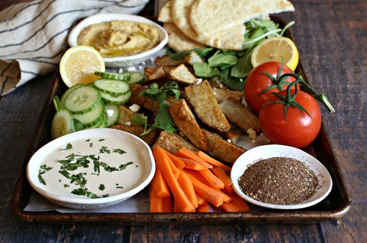 Middle Eastern Potato Snack Platter