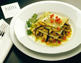 Idaho® Potato Lasagna of Wild Mushrooms with Herb Sauce