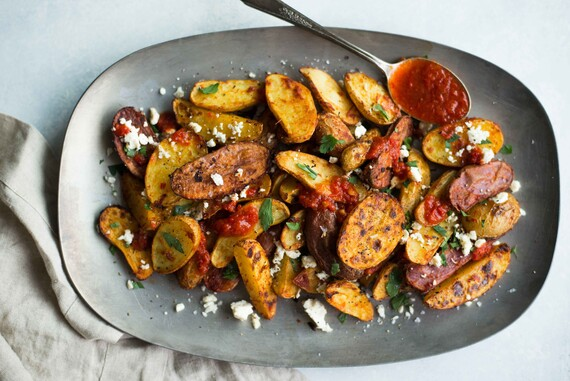 Harissa Roasted Fingerling Potatoes