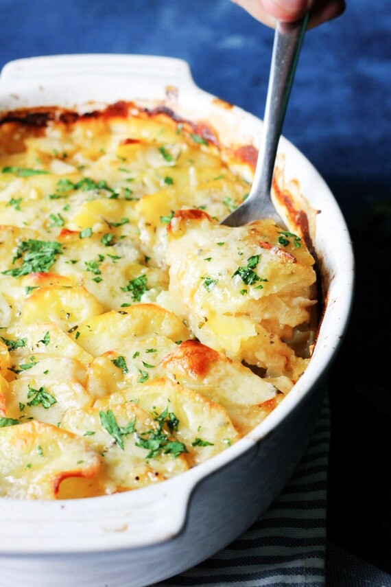 Boulangere Potatoes with Rosemary & Gruyere