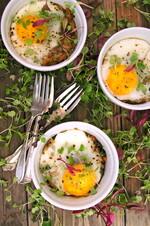 Crispy Idaho® Potato Hash Browns, Bacon and Eggs