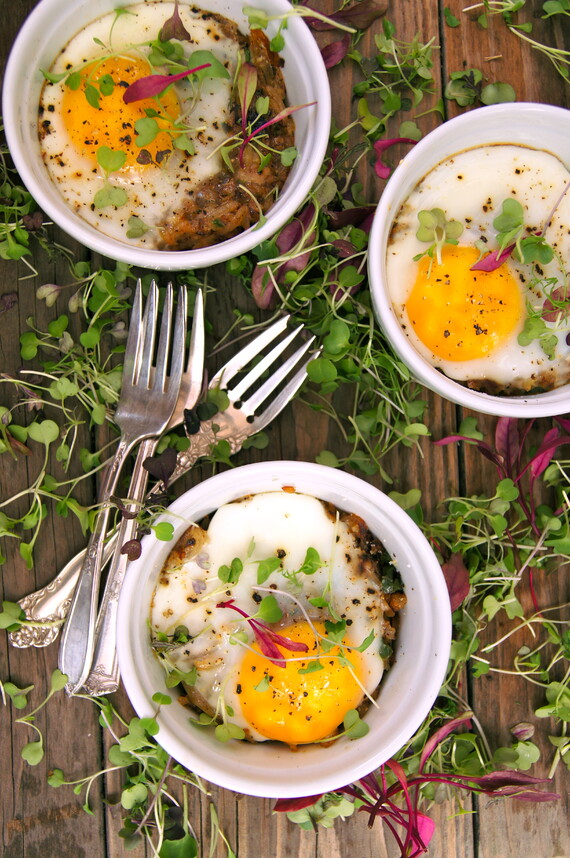 Crispy Idaho® Potato Hash Browns, Bacon and Eggs