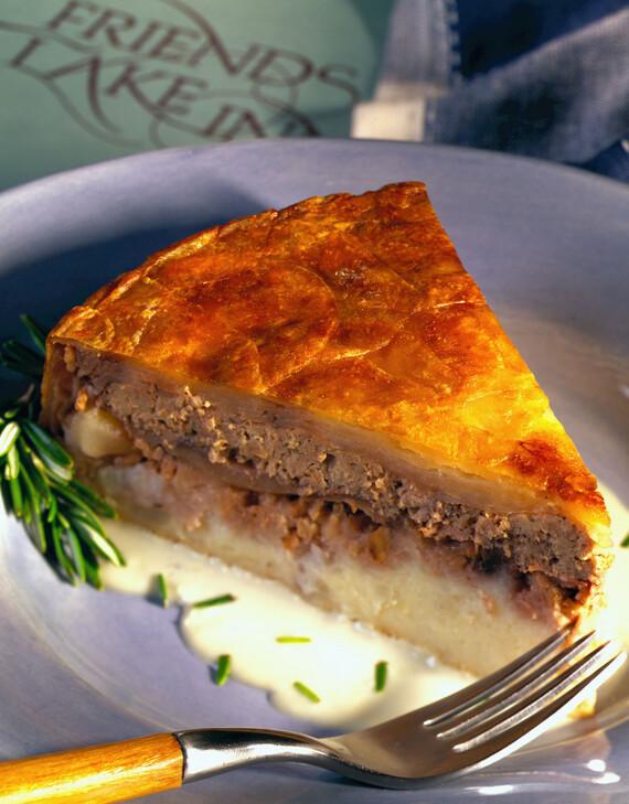 Idaho® Potato, Duck and Bartlett Pie with a Roquefort Cream