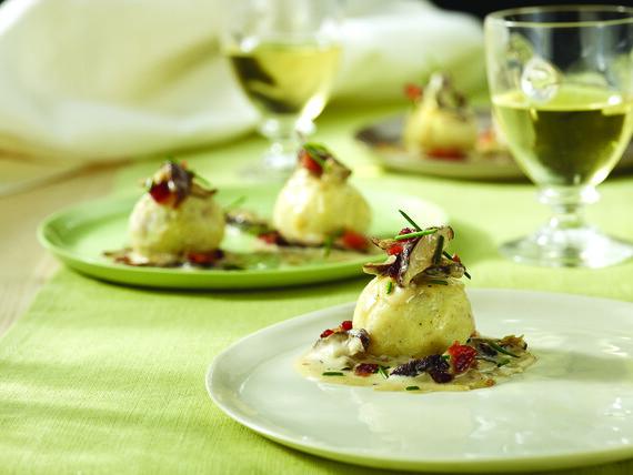 Idaho® Potato Dumpling with Goat Cheese and Shiitake Mushroom Ragout
