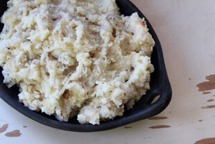 Mashed Idaho® Potatoes with Roasted Parsnips and Caramelized Onions