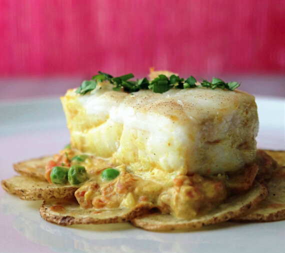Curry Coconut Corvina with Idaho® Potatoes