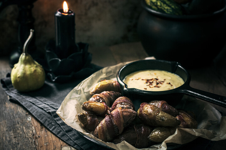 Frightening Fingerlings (Bacon-Wrapped Potatoes)
