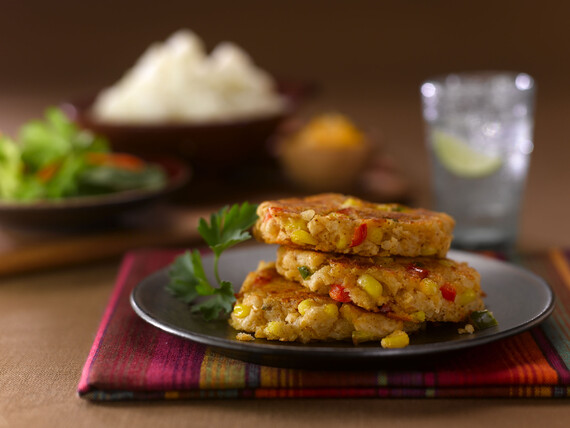 Southwest Corn and Idaho® Potato Cakes