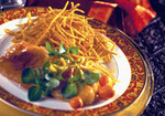 Curry Idaho Shoestring Potatoes with Roasted Cod