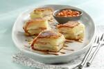 Potato Terrine with Romesco and Apple Gastrique