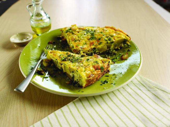 Frittata With Potato, Rapini And Pecorino