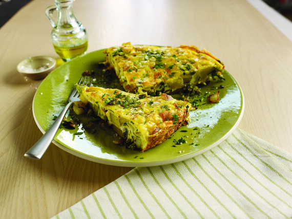Frittata With Potato, Rapini And Pecorino