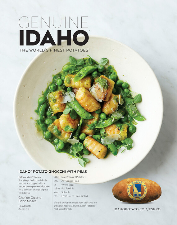 Idaho® Potato Gnocchi with Peas