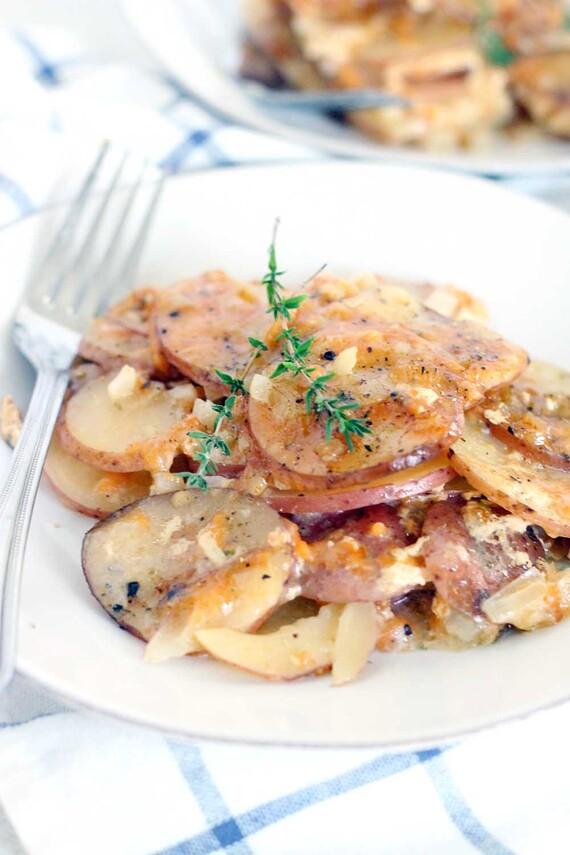 Slow Cooker Scalloped Idaho® Potatoes