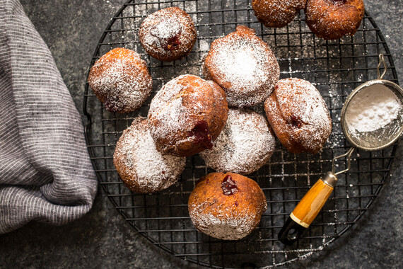 Potato Jelly  Doughnuts (Potato Sufganiyot)
