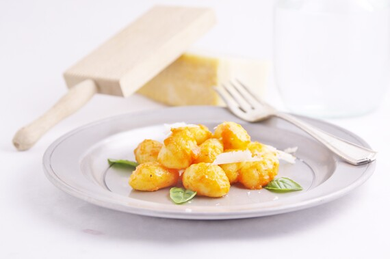 Idaho® Potato Gnocchi with Roasted Red Pepper Sauce