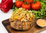 Stuffed Idaho® Potato with Smoked Brisket and Litehouse® BBQ Ranch