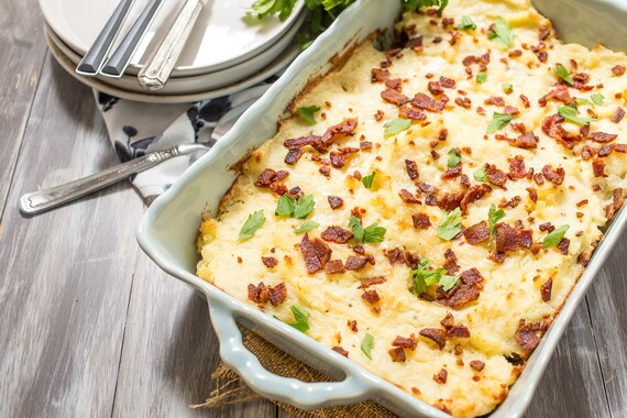 Twice Baked Idaho Potato Casserole